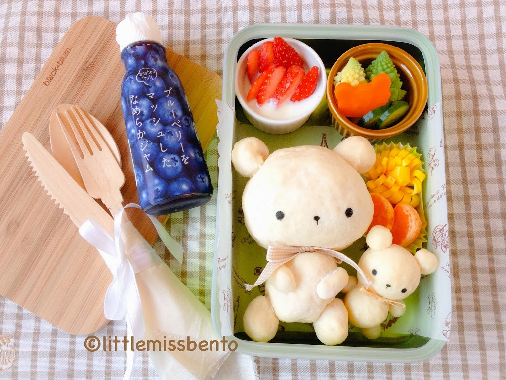 Teddy-Bear-Bread-Bento