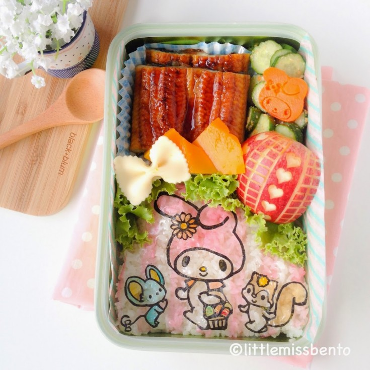 My-Melody-and-Friends-Seaweed-Easter-Bento-1-