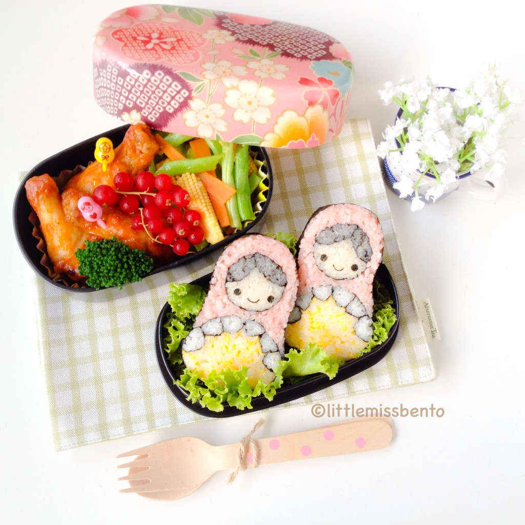 Russian Doll Sushi Art Roll Bento (2)