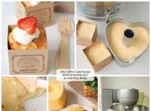 BOSCH MUMXL40G Recipe Tofu Chiffon Cake