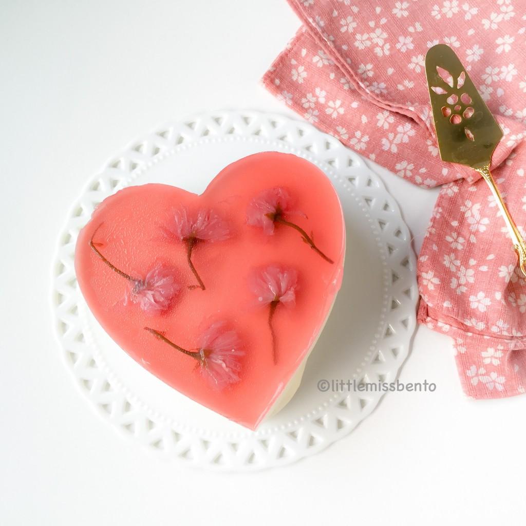 Sakura Yuzu Fromage Mousse Cake (1)