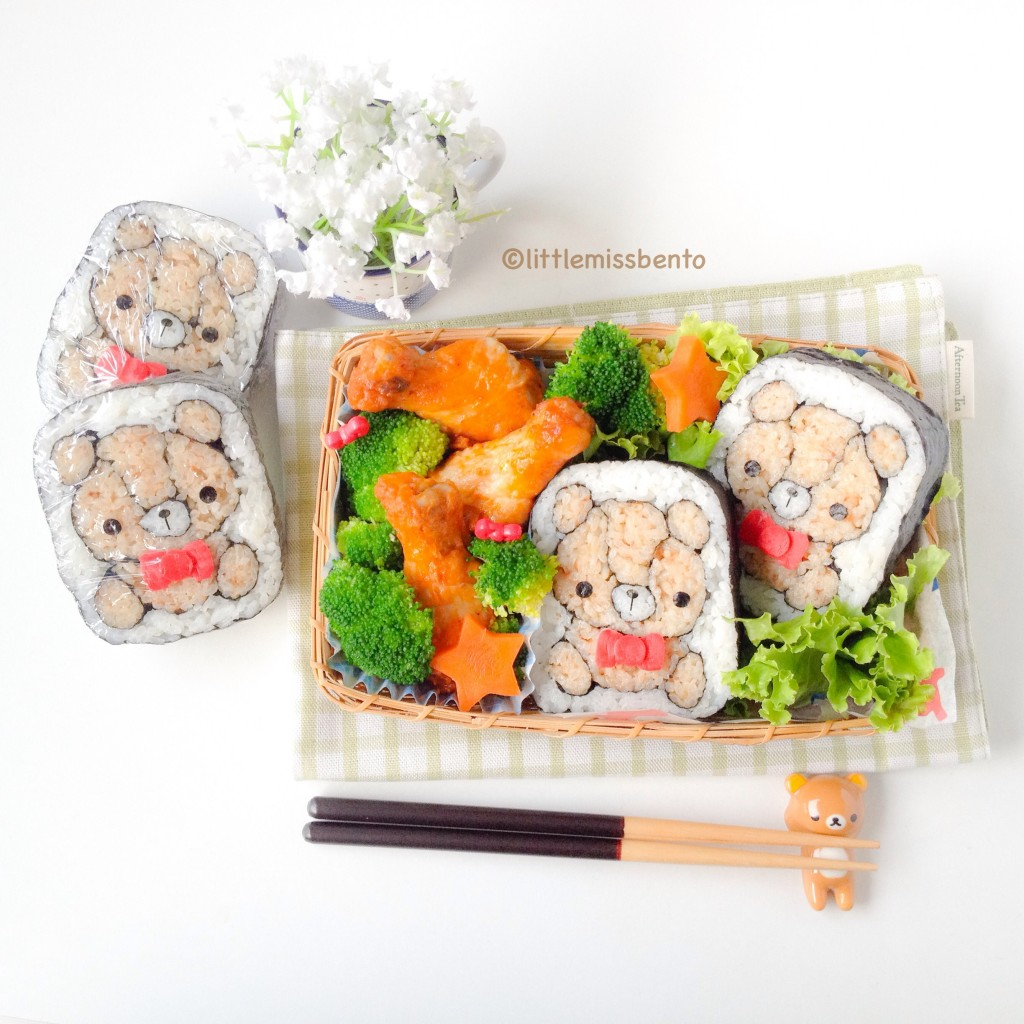 Teddy Bear Sushi Bento (1)