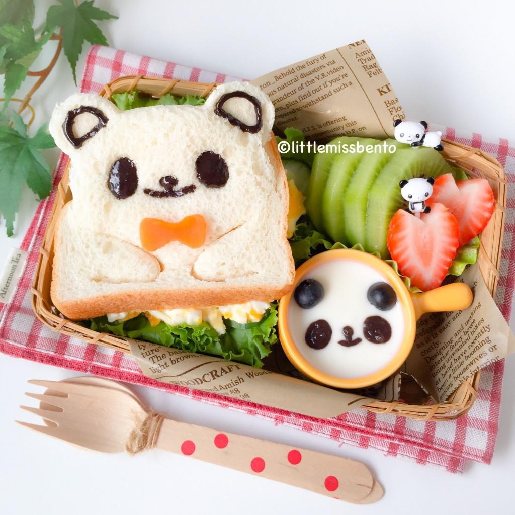 Panda Sandwich Bento (1)