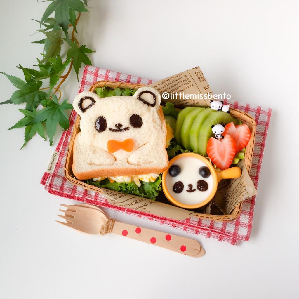 Panda Sandwich Bento (3)