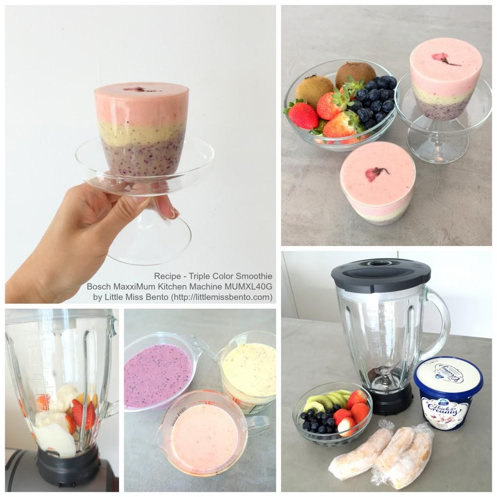 Triple Colour Smoothie Recipe