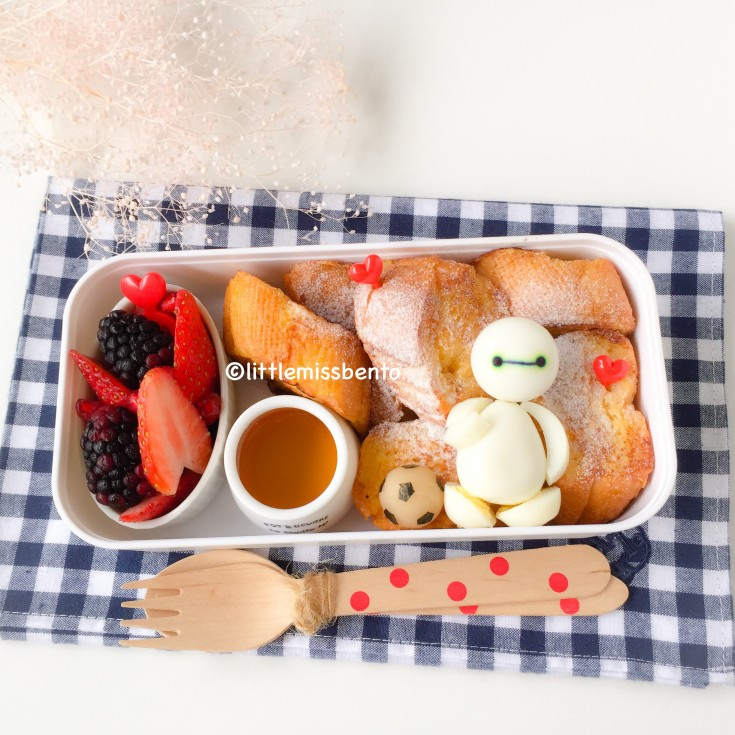 Baymax French Toast Bento (2)