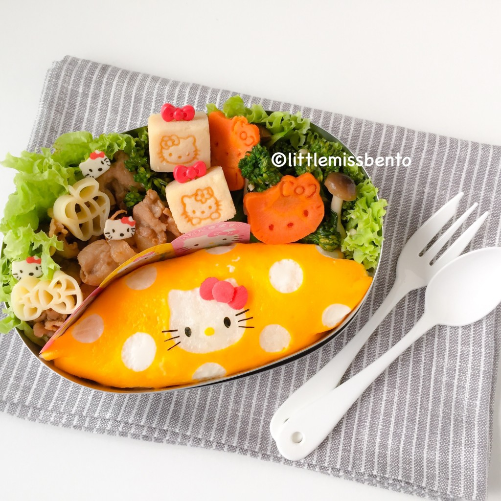 Hello Kitty Omurice Bento