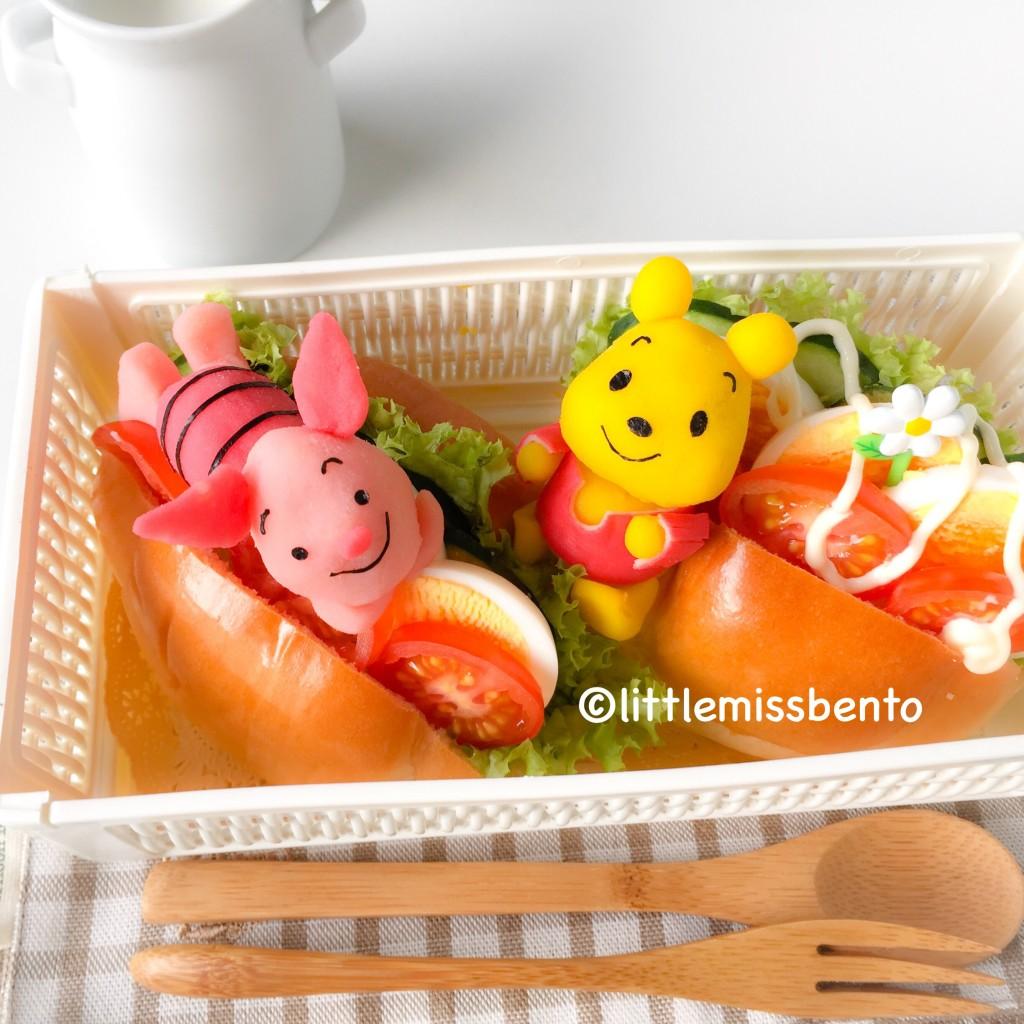 Pooh Bear Piglet Bento (1)
