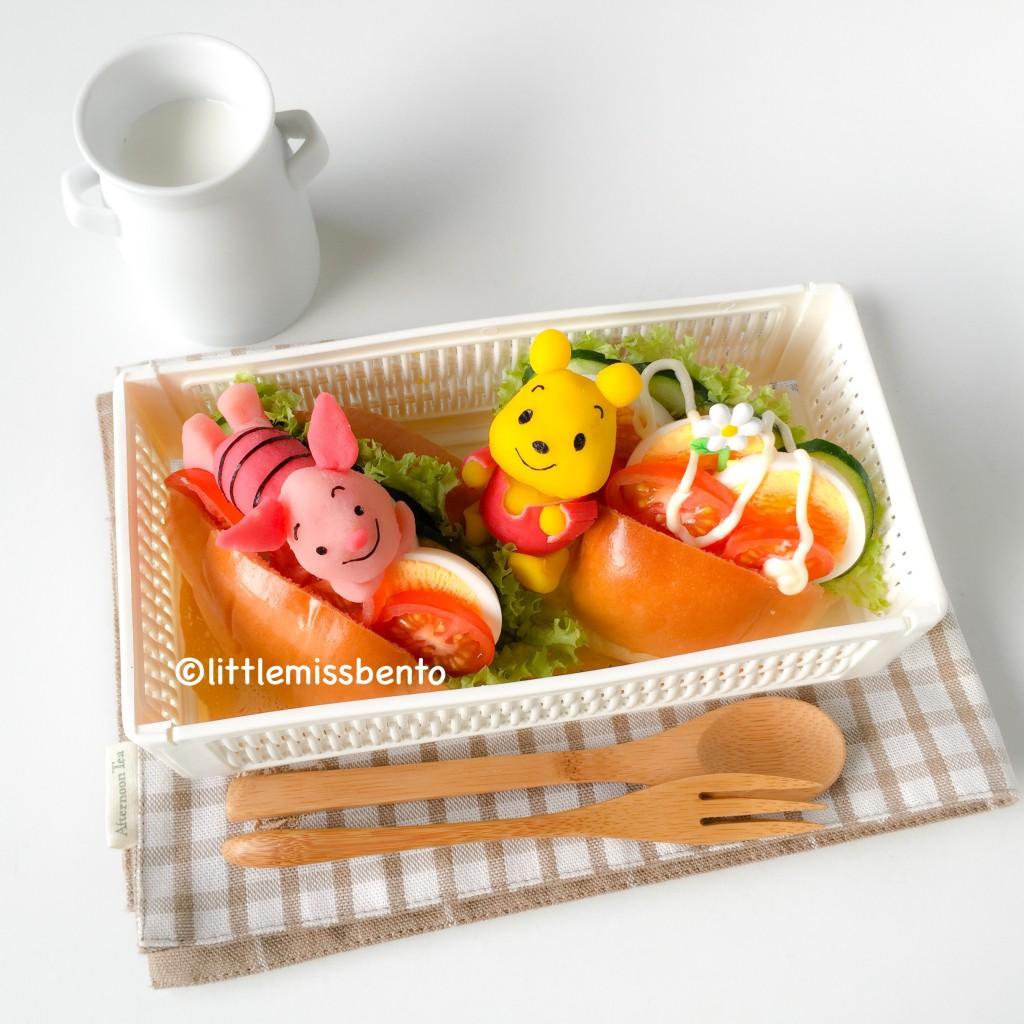 Pooh Bear Piglet Bento (2)