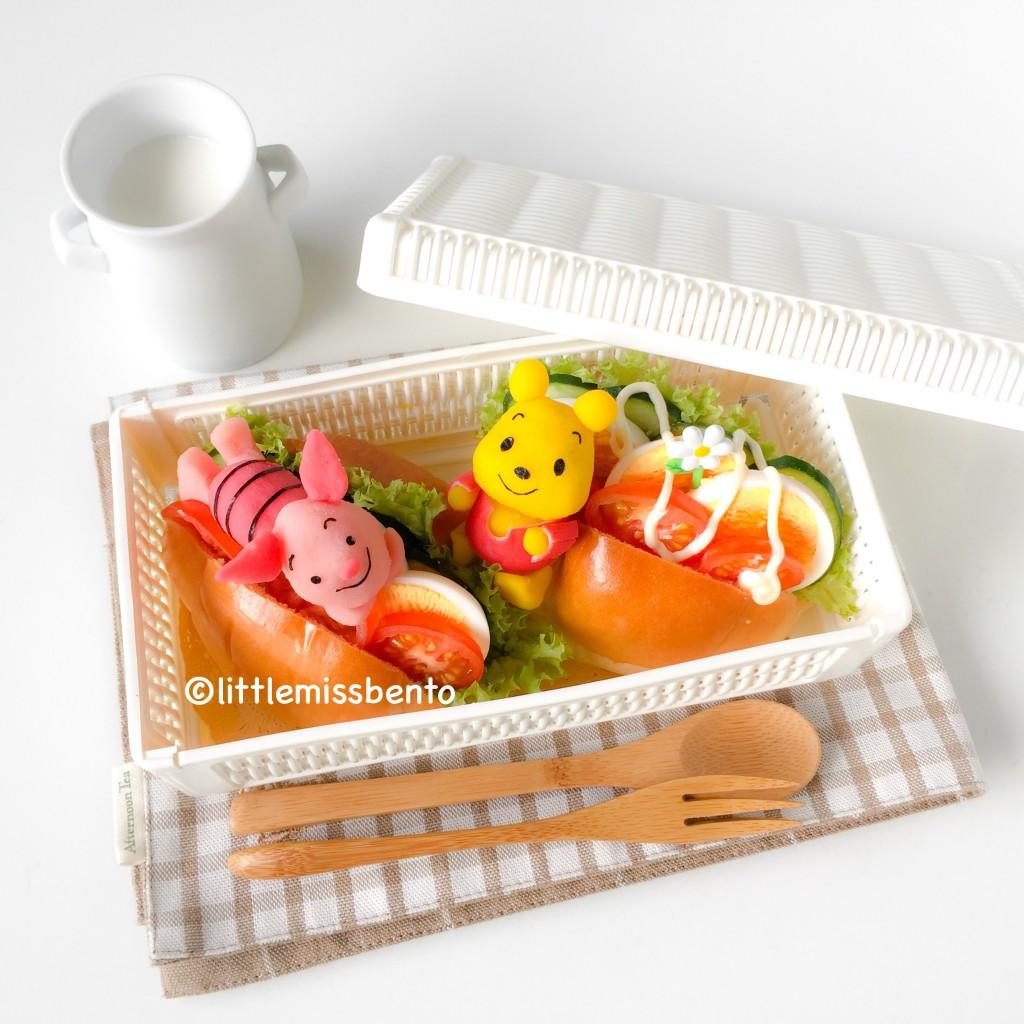 Pooh Bear Piglet Bento (4)