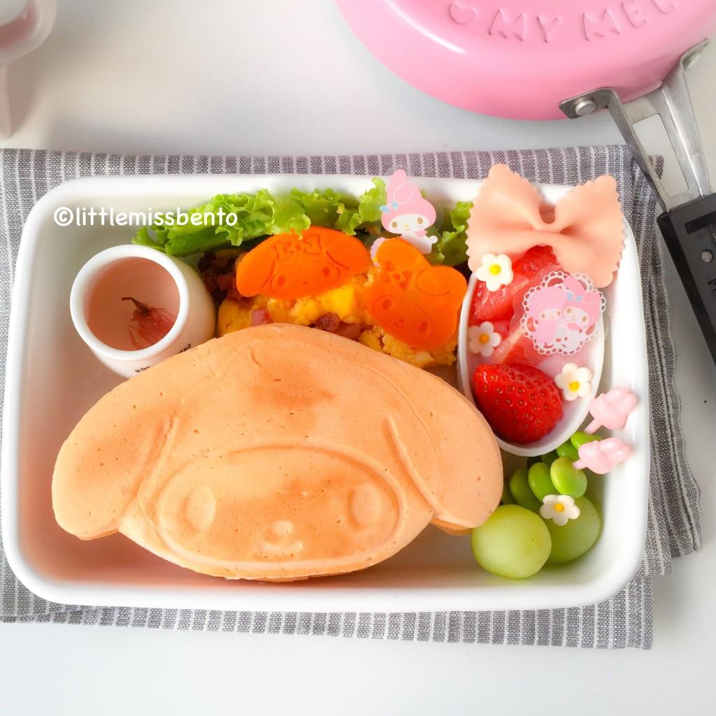 My Melody Pancake Bento (3)