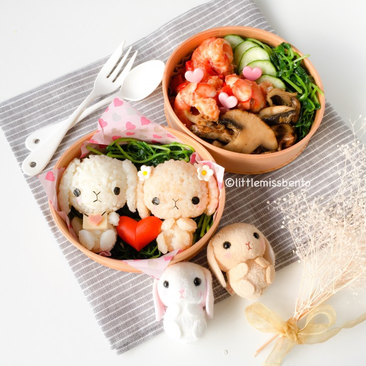 Bunny Valentines Bento (3)