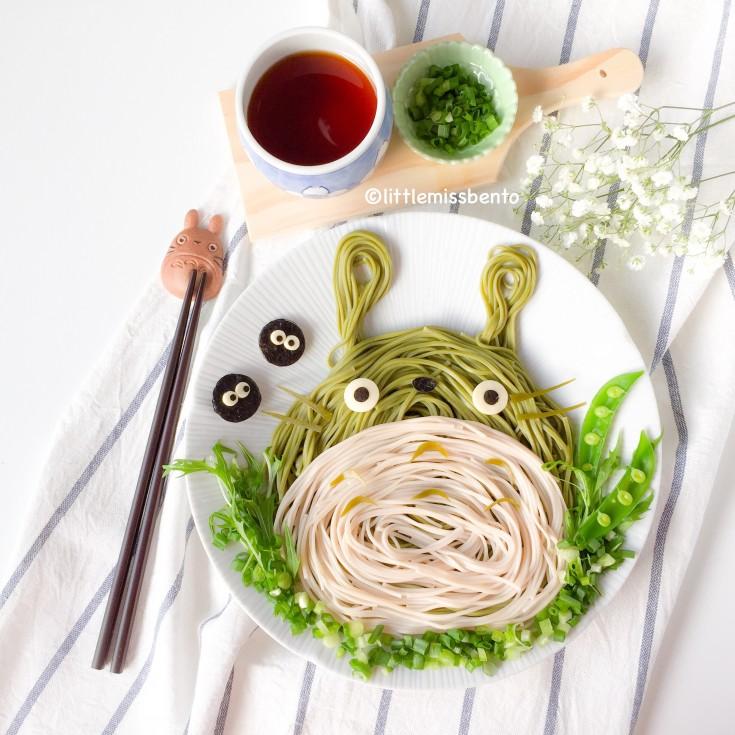 Cute Totoro Soba Noodles Foodart (4)