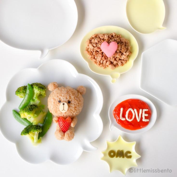 LINE Brown Bear foodart (1)