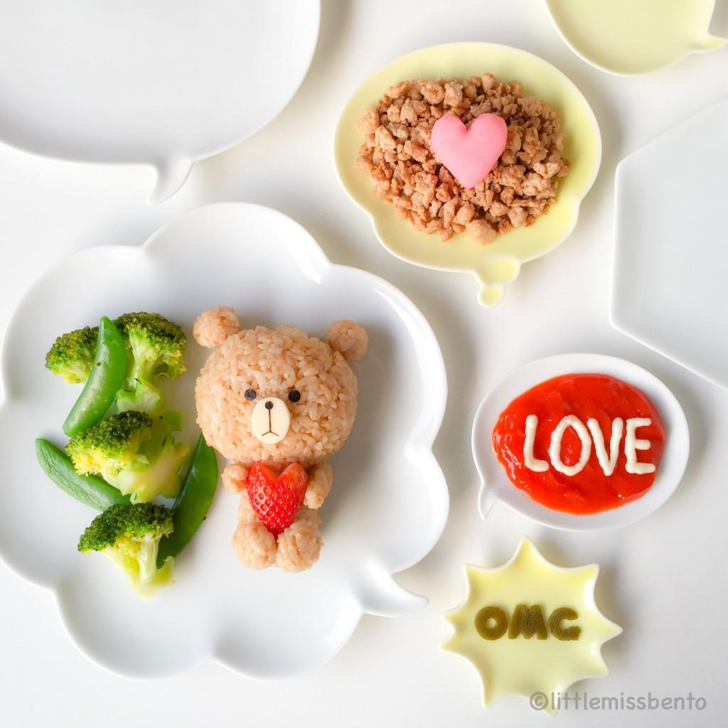 LINE Brown Bear foodart (3)