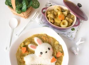 Dancing Chef Curry Bunny Foodart (5)