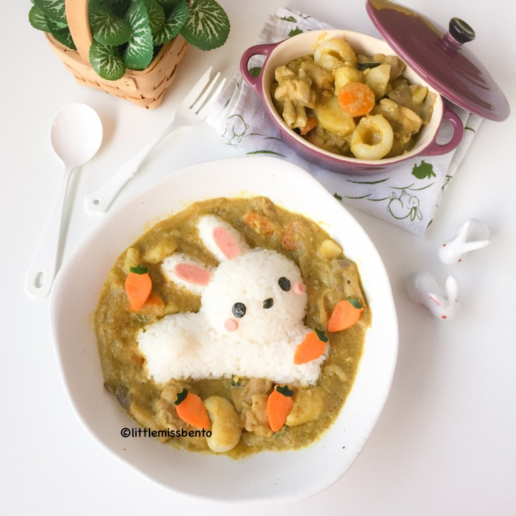 Dancing Chef Curry Bunny Foodart (5)