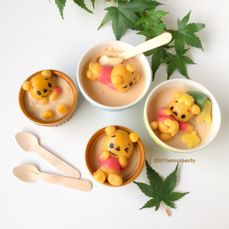 Winnie the Pooh Deco Shiratama Dango recipe