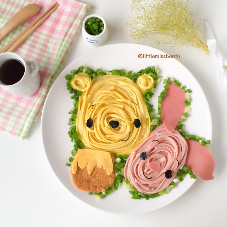 Winnie the Pooh Foodart Soba (2)