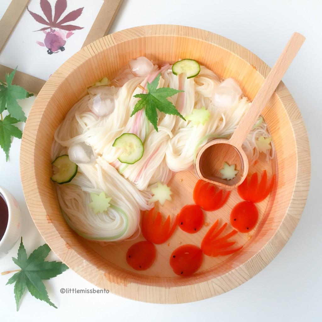 Goldfish Somen Noodles Foodart  (3)