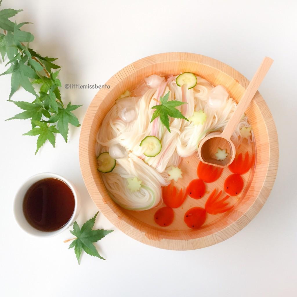 Goldfish Somen Noodles Foodart  (4)