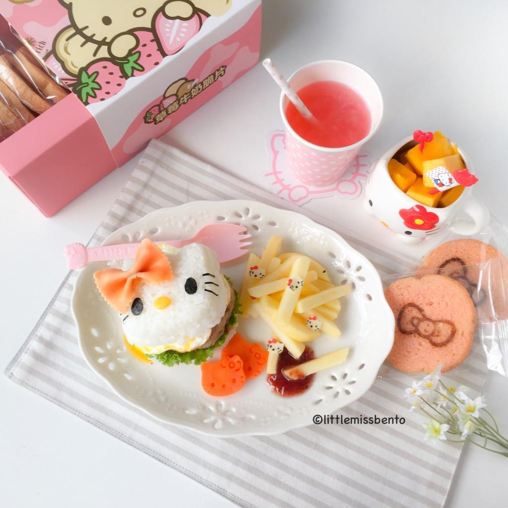 Hello Kitty Burger Foodart (2)