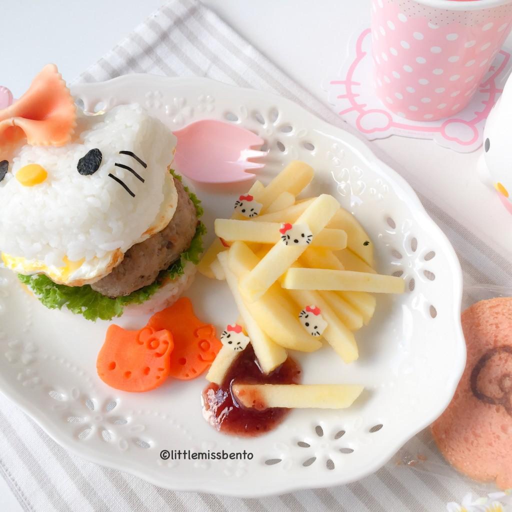 Hello Kitty Burger Foodart (3)