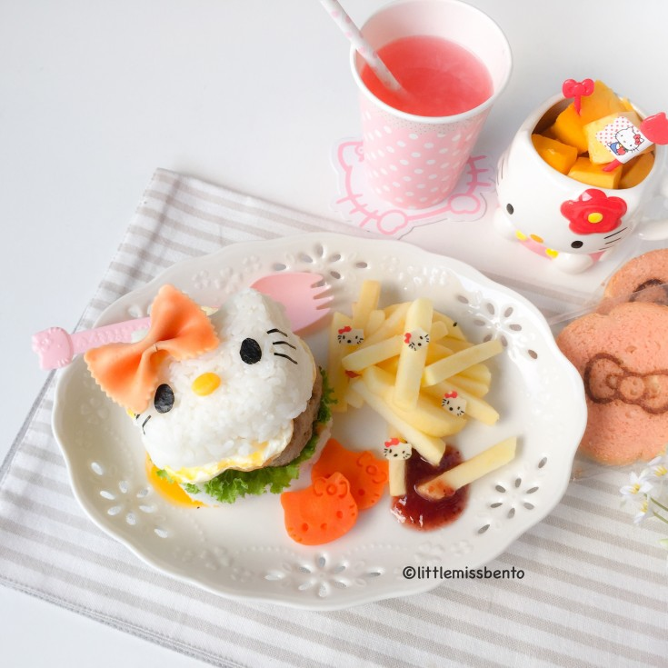 Hello Kitty Burger Foodart (4)