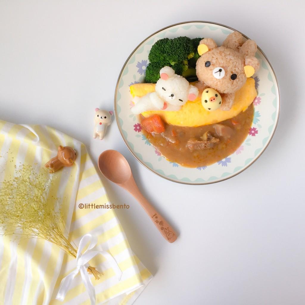 Rilakkuma Omurice with Curry (1)