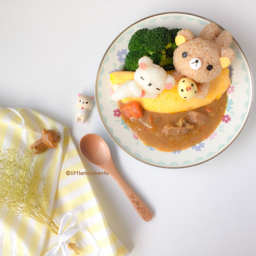 Rilakkuma Omurice with Curry (4)