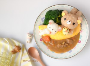 Rilakkuma Omurice with Curry (4)