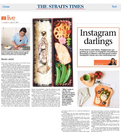 The Straits Times Instagram Darlings Sunday Times feature