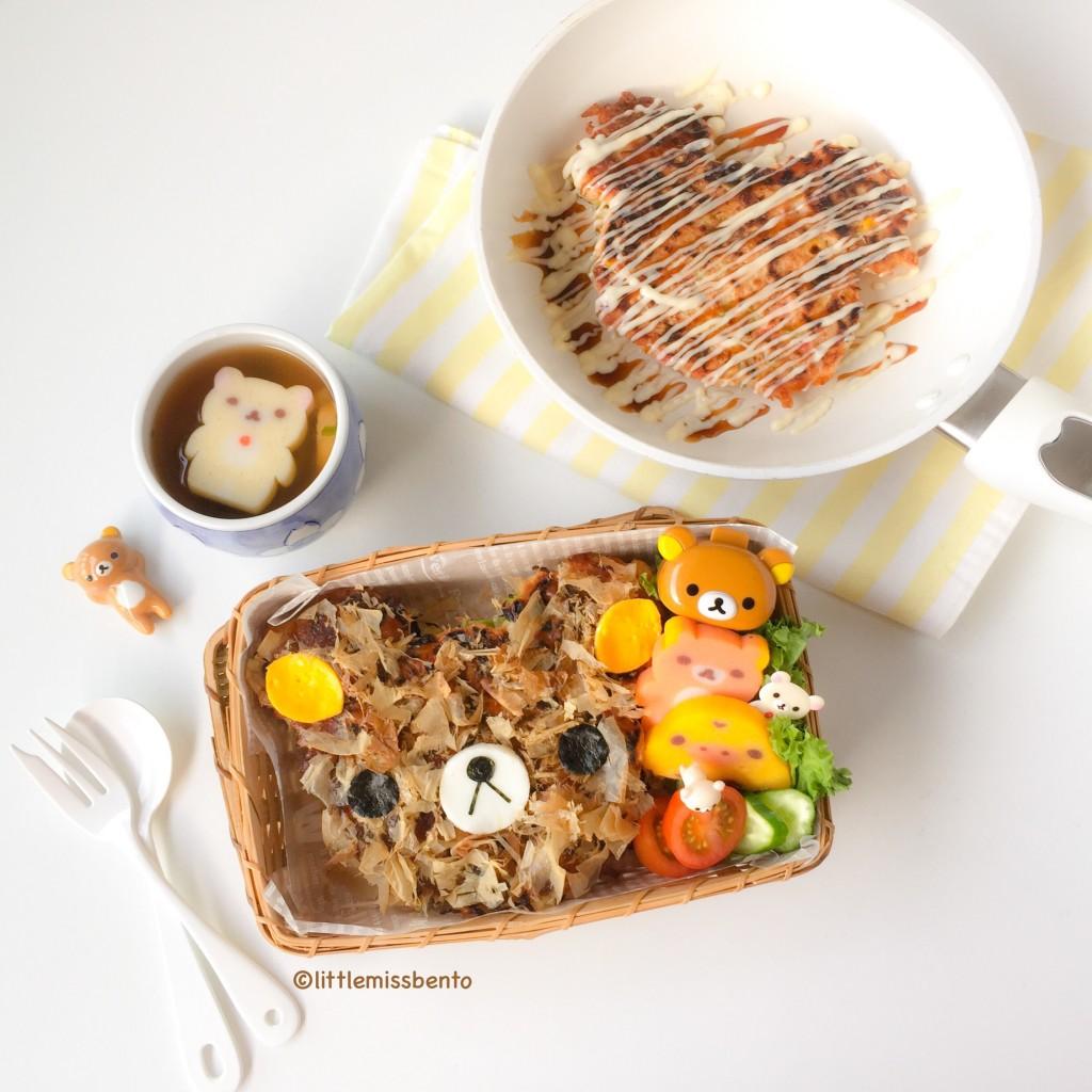 Cute Rilakkuma Okonomiyaki  (1)