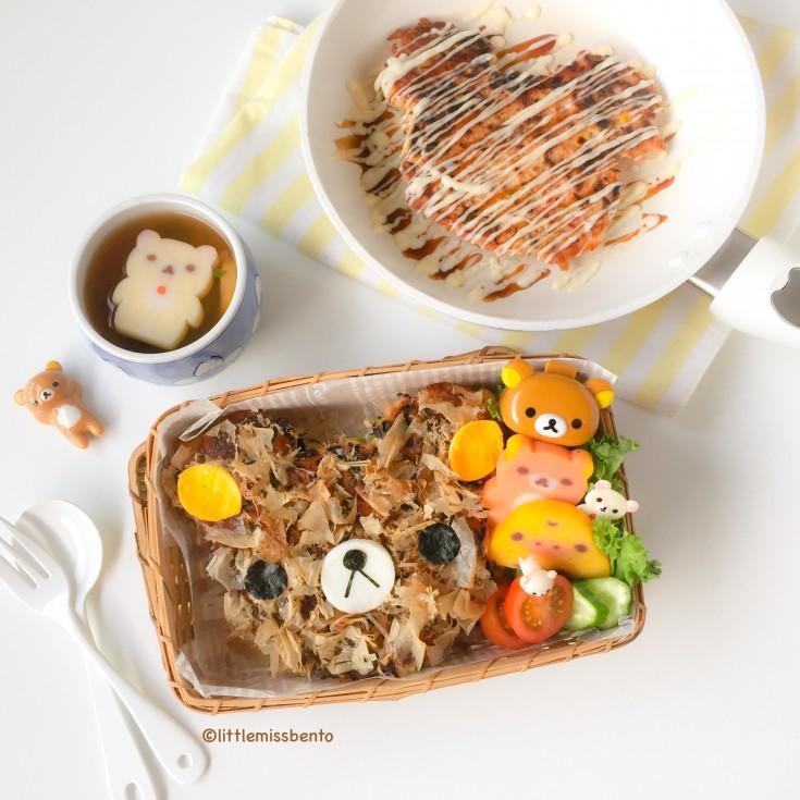 Cute Rilakkuma Okonomiyaki  (4)