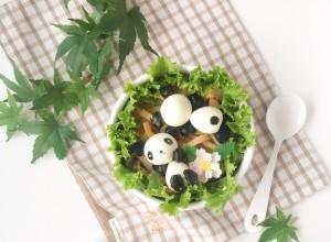 Panda Quail Egg Bento (2)