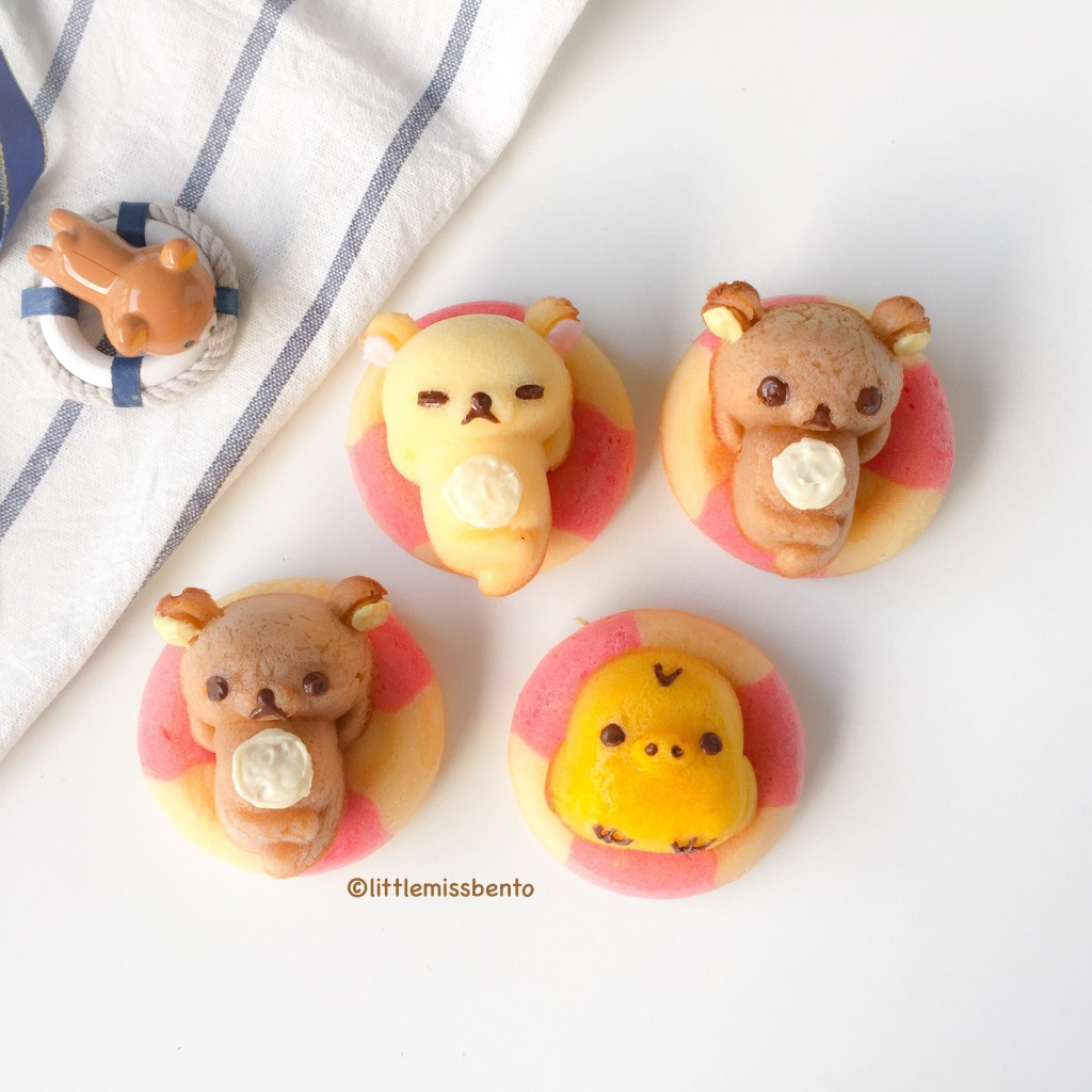 Rilakkuma Swimming Honey Cakes Recipe (2)