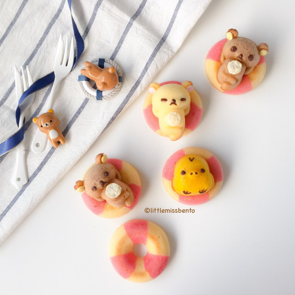 Rilakkuma Swimming Honey Cakes Recipe (4)