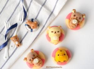 Rilakkuma Swimming Honey Cakes Recipe (4)