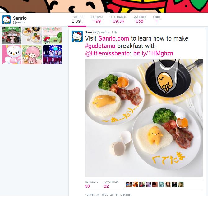 Sanrio Twitter Post 2