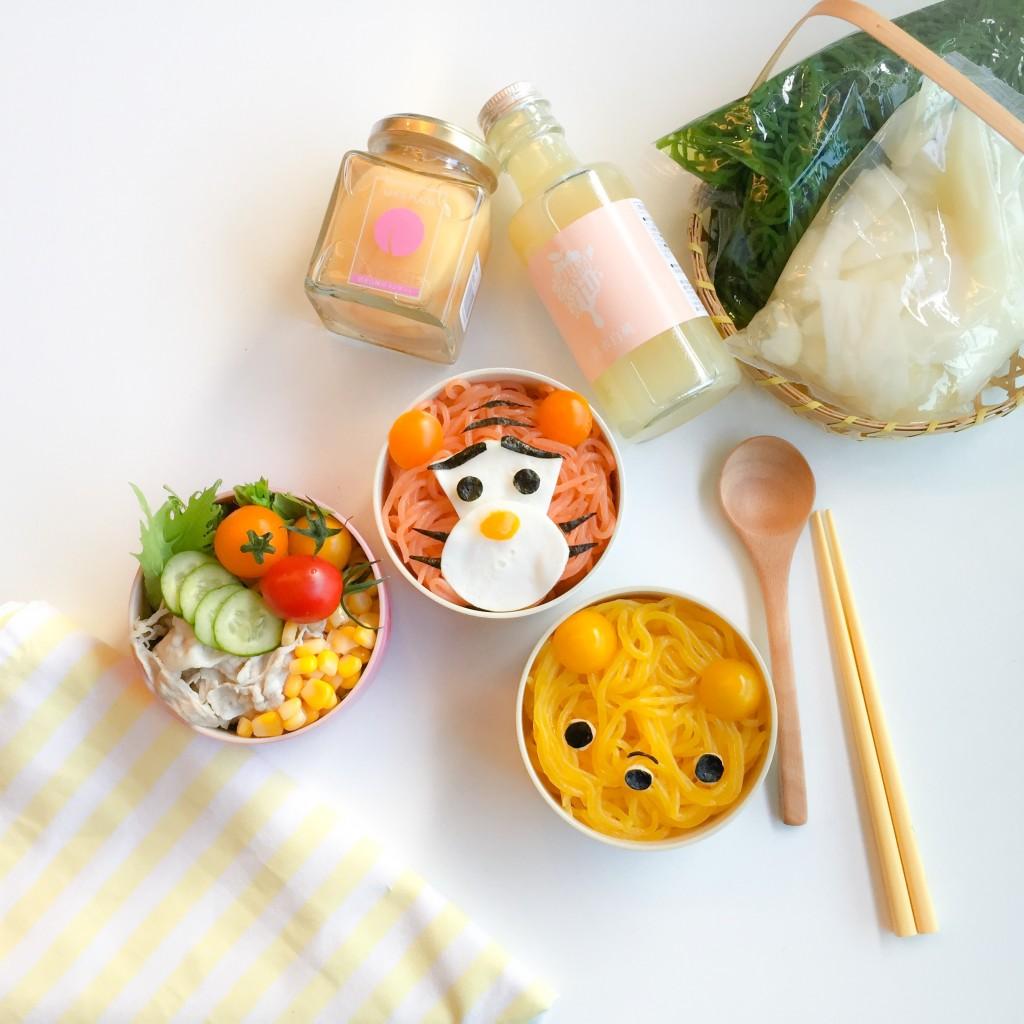 Tigger Pooh Konnyaku Noodles Bento (3)