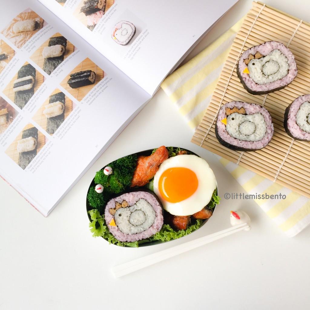 Chicken Hen Deco Sushi Bento (3)