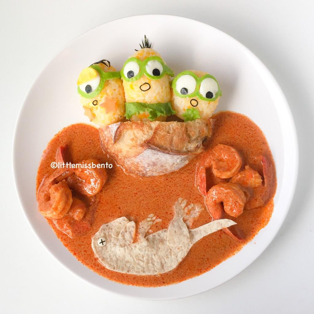 Minions Dinosaur Foodart (1)