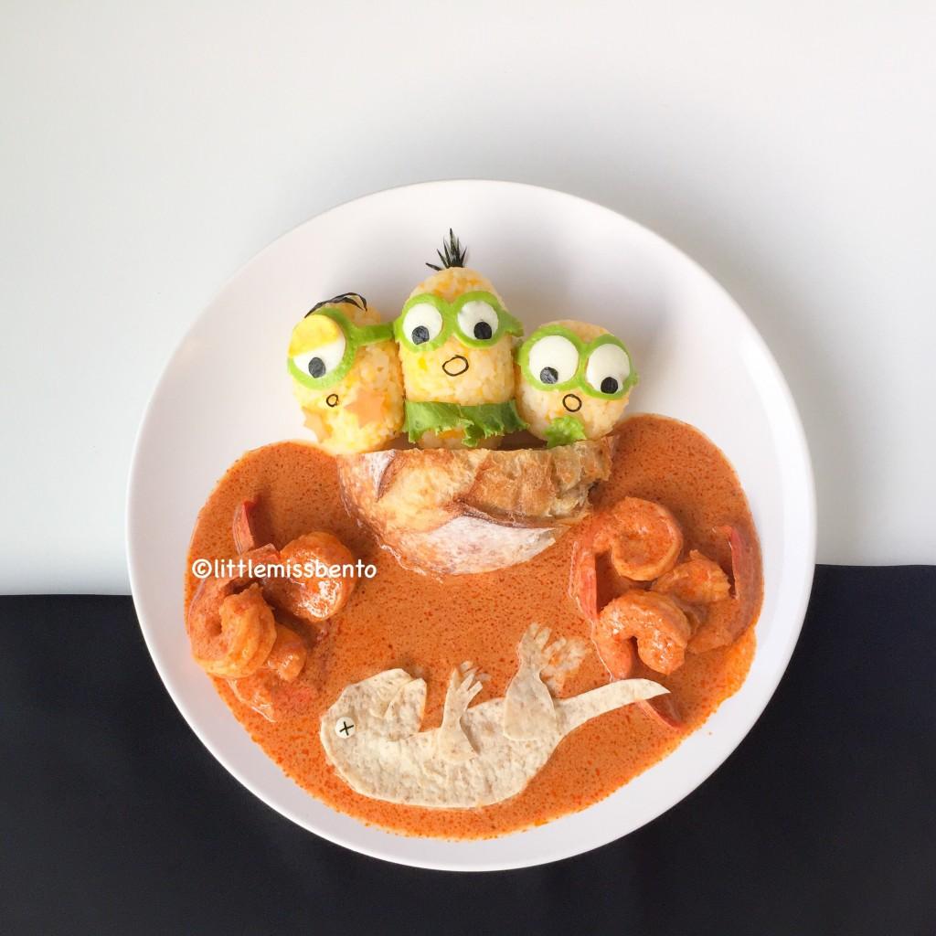 Minions Dinosaur Foodart (2)