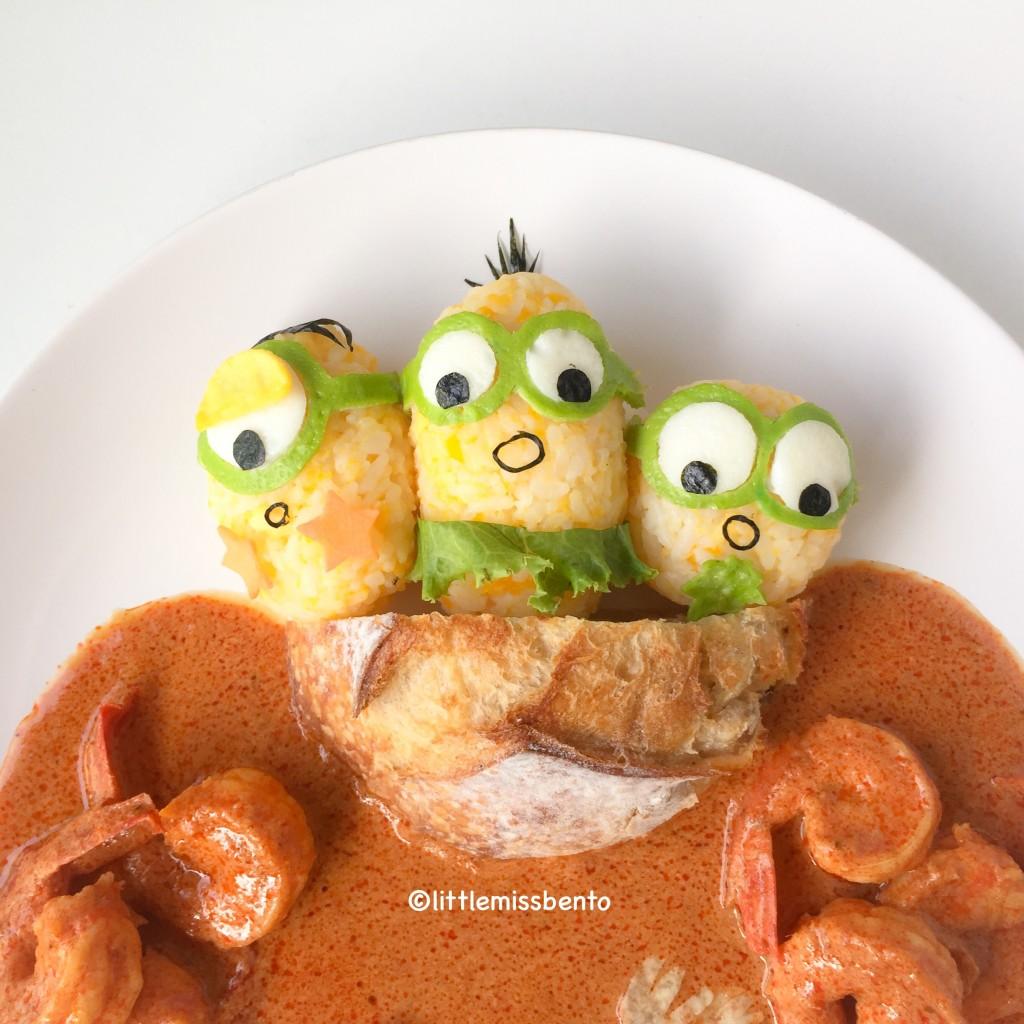 Minions Dinosaur Foodart (4)