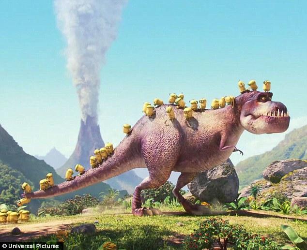 Minions and Dinosaur
