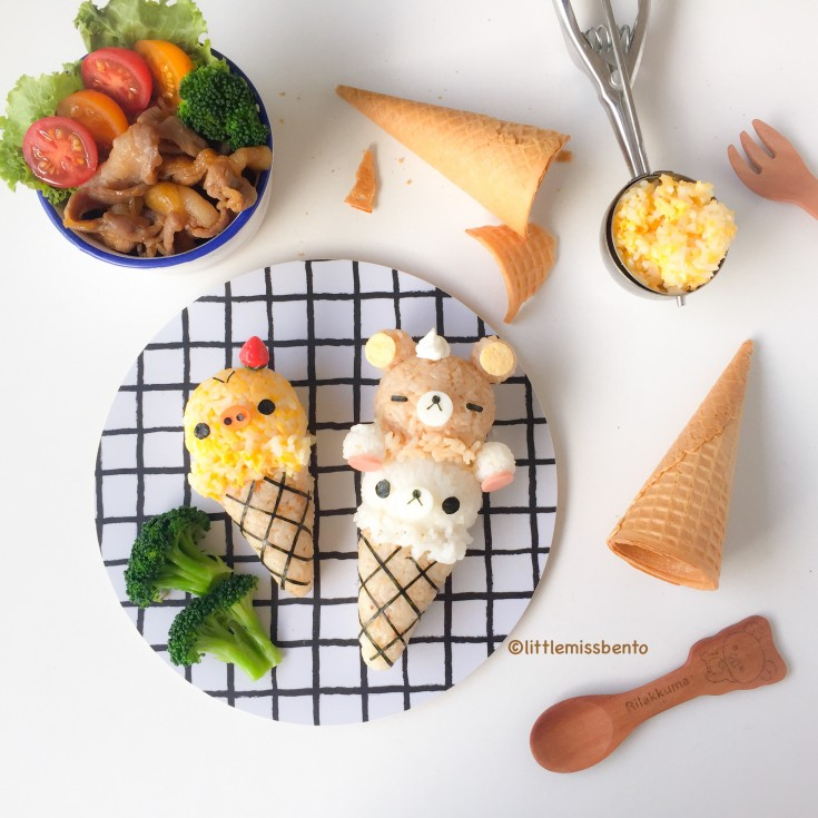 Rilakkuma Ice Cream Foodart (4)