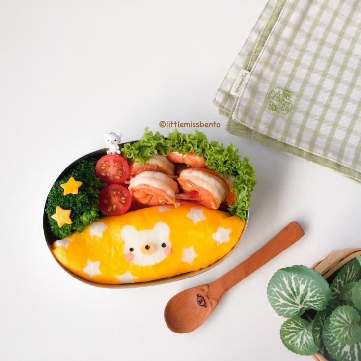 Teddy Bear Omurice Bento (1)