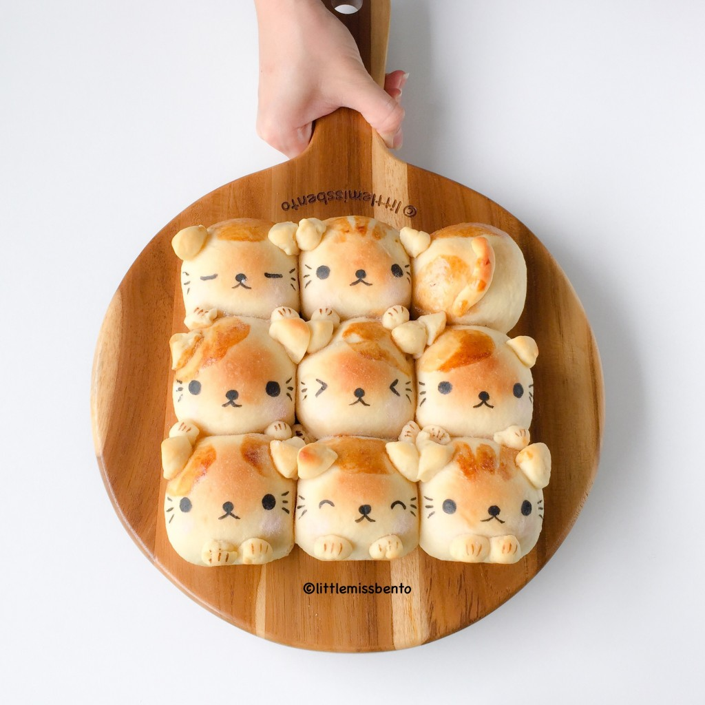 soymilk kitty pull apart bread
