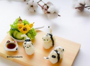 Quail Egg Kitty Sushi (1)