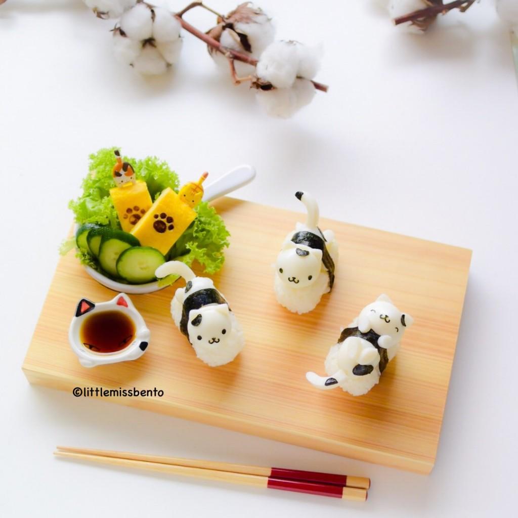 Quail Egg Kitty Sushi (2)